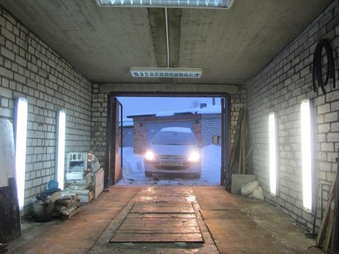 Как сделать светильник в гараж своими руками 76