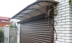 Выбор и изготовление козырька над гаражом