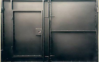 Гаражные металлические ворота своими руками