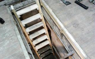 Как сделать лестницу в подвал гаража своими руками