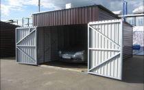 Выбор материала и строительство гаража из металлопрофиля