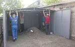 Установка металлического гаража своими руками