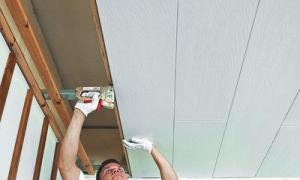 Натяжной и подвесной потолок в гараже