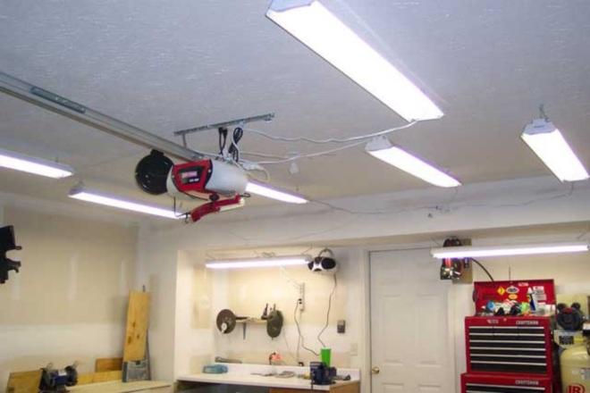 Выбор ламп для гаражного освещения