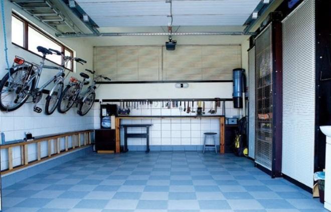 Отделка пола гаража плиткой