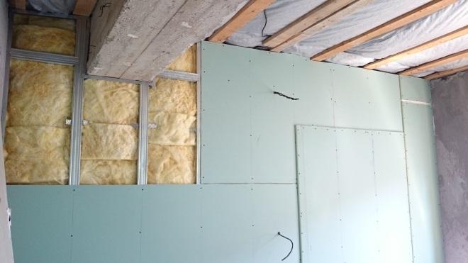 Отделка стен гаража гипсокартоном