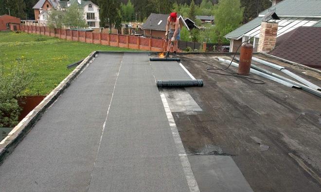 Покрытие крыши рубероидом