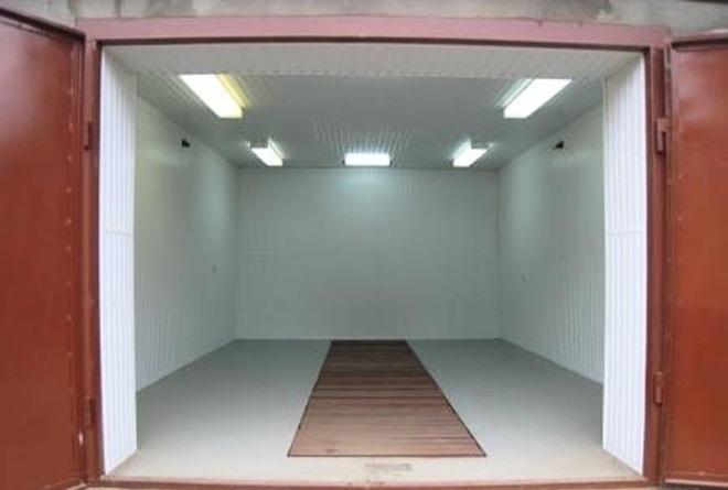 Пример гаража под одно авто