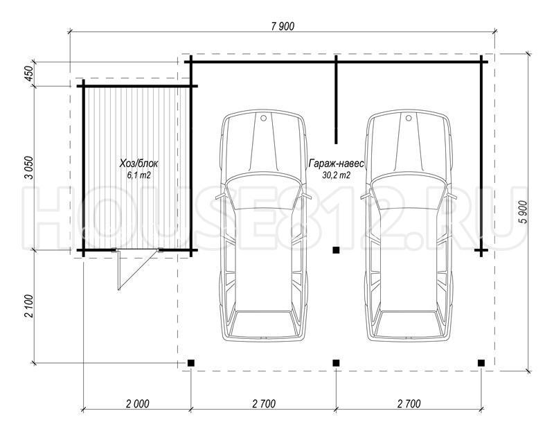 Размеры гаража на 2 машины