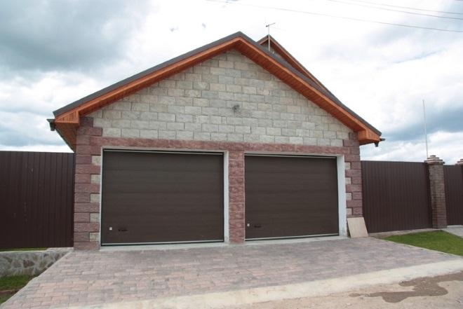 проекты гаража на 2 машины