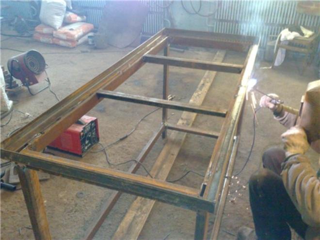 Изготовление каркаса для металлического верстака