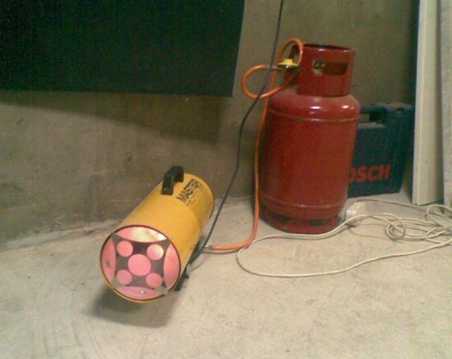 Отопление гаража тепловой пушкой
