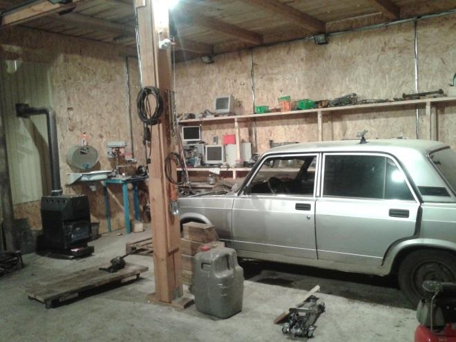 Печное отопление гаража