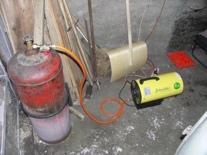 Подключение пушки к газовому баллону