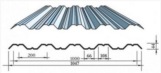 Размеры листа НС-44