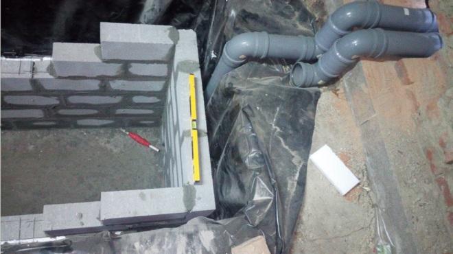 Монтаж вентиляции в смотровую яму