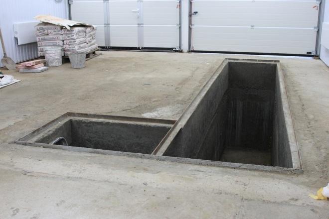 Смотровая яма в гараже размеры