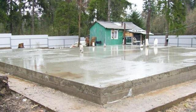 монолитный фундамент под гараж