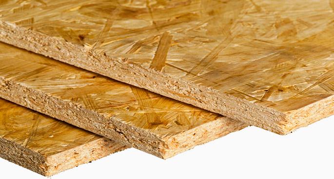 Плиты из древесной стружки в гараже