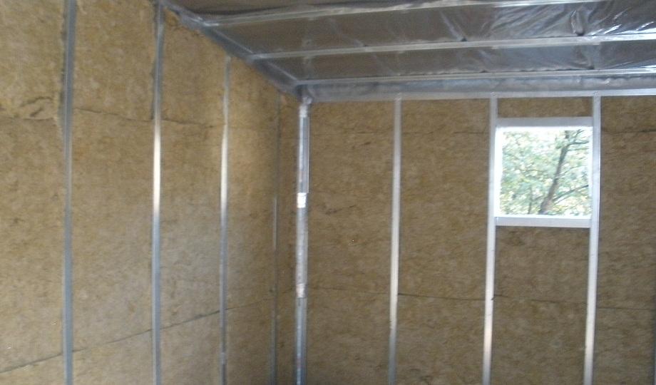 утепление мин ватой стен гаража