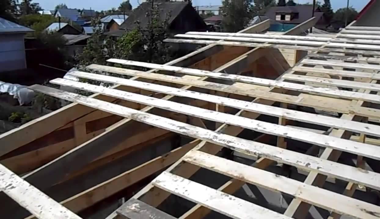 деревянный каркас гаража