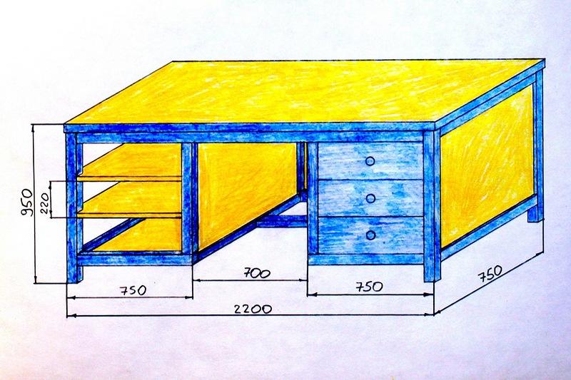 Как сделать верстак в гараже из дерева