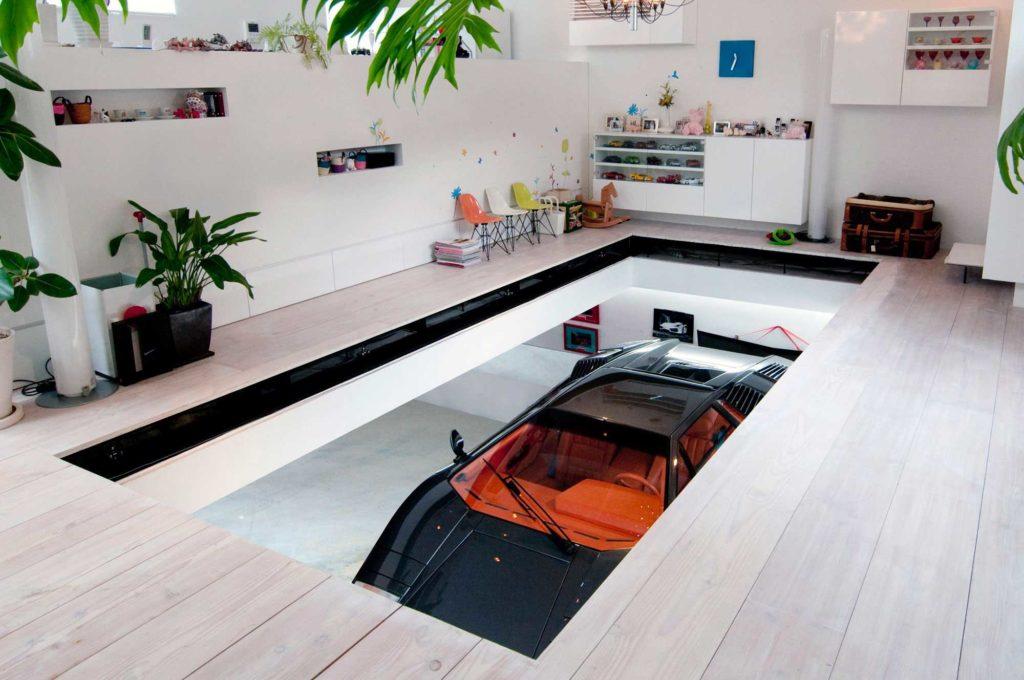 дизайнерский прозрачный потолок