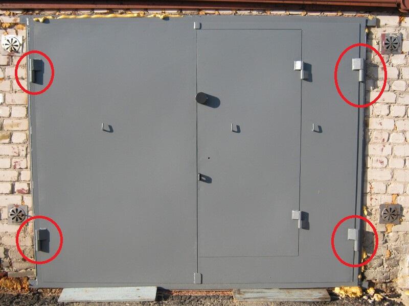 Как сделать дверь железную для гаража гараж из металлических ферм