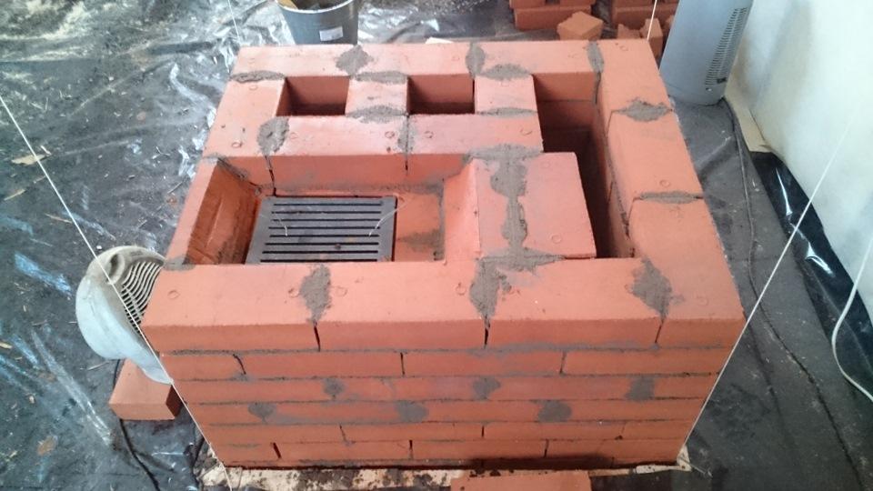 стандартная конструкция печи из кирпича