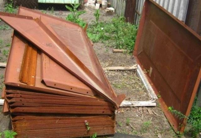 металлические листы для гаража