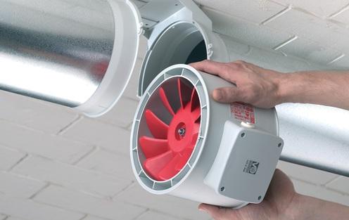 вентилятор в трубе - механическая вентиляция