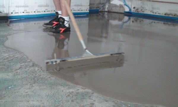 Наливной пол в гараж