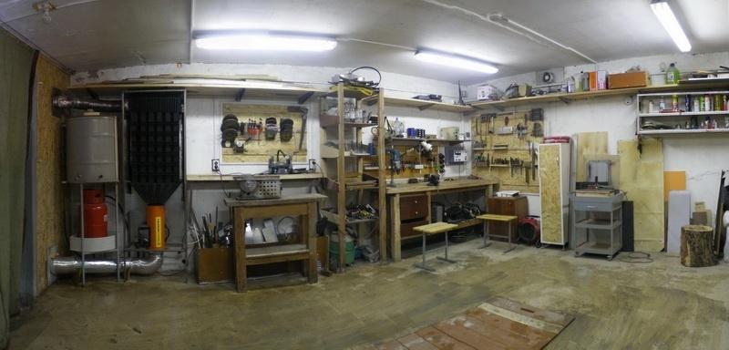 Оборудование внутри гаража