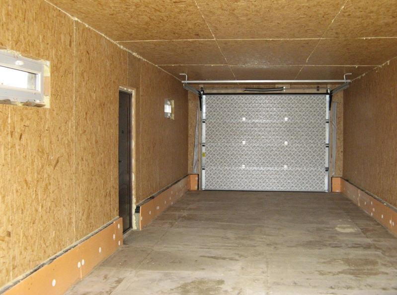Обработка стен гаража