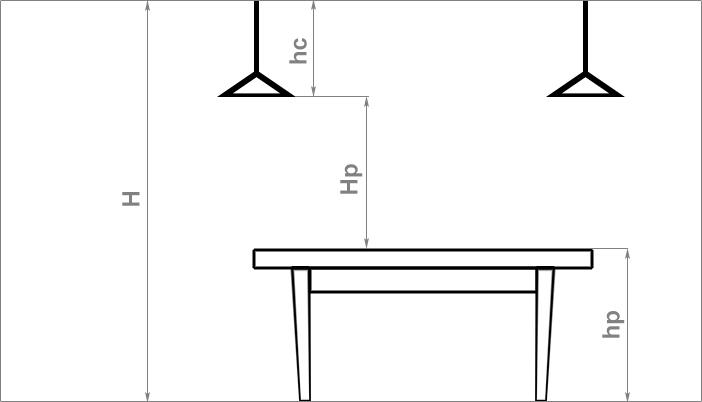 Расчет расстояния ламп