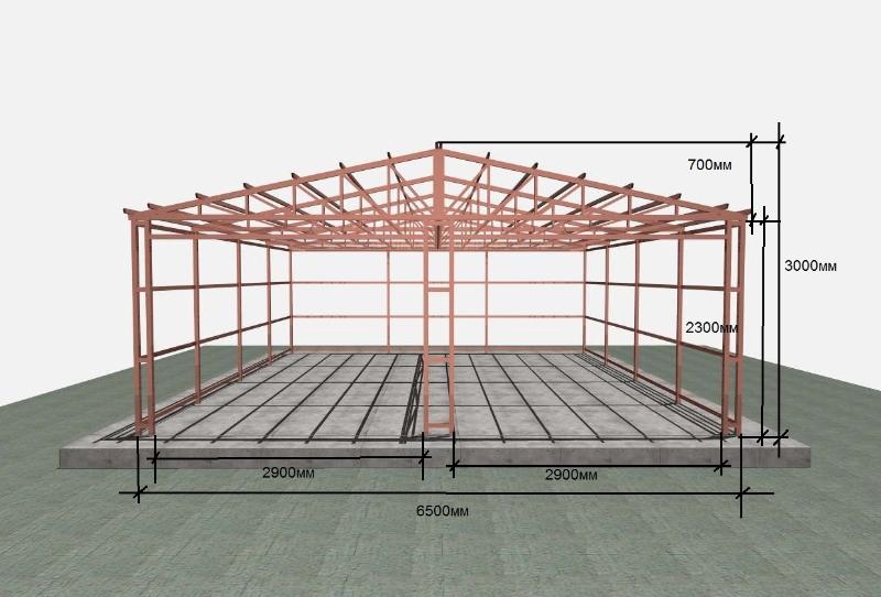 схема классического гаража