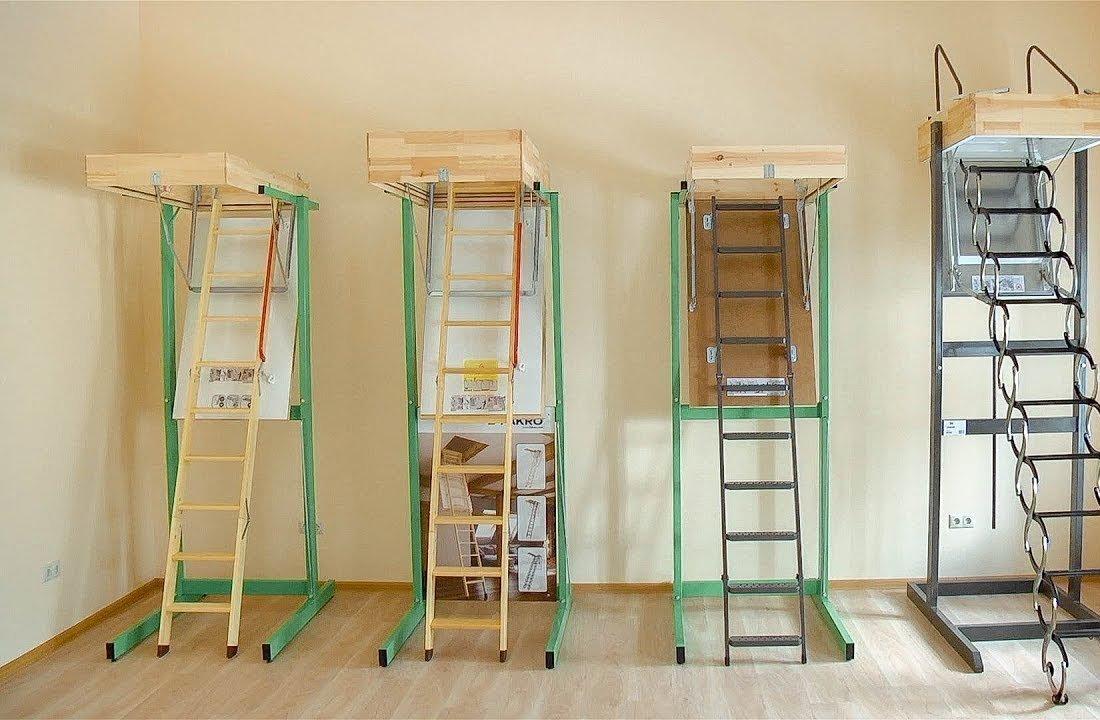 Виды чердачных лестниц устройство